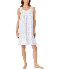 eileen west lace-trim floral-print chemise nightgown