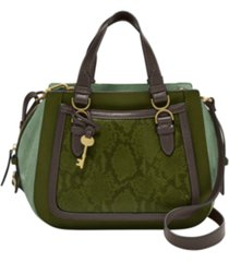 fossil women's brooke leather satchel
