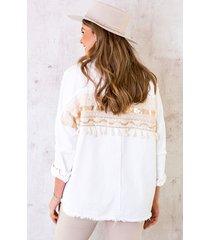 ibiza tassel jacket wit