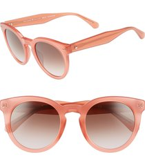 women's kate spade new york alexuss 50mm round sunglasses - peach