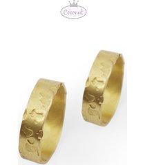 dwie obrączki vulcan - złocone srebro