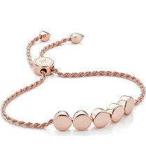 rose gold linear bead friendship chain bracelet