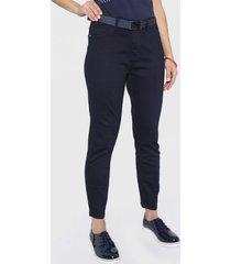 jeans skinny crop con cinturón azul curvi