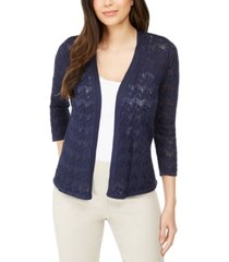 jm collection pointelle stitch cardigan sweater, created for macy's