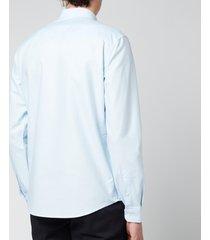 ami men's button down de coeur shirt - oxford blue - 43/xxxl
