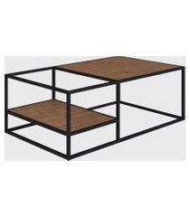 mesa de centro vermont/est. preta industrial artesano