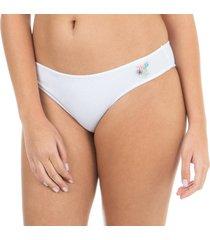 calcinha básica patch branca capricho - 545.021 capricho lingerie básica branco