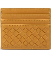 reina woven card case - mustard