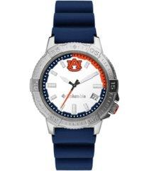 columbia men's peak patrol auburn silicone strap watch 45mm