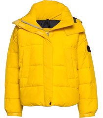 puffer jacket gevoerd jack geel lee jeans