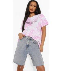 tie dye long line ye saint west t-shirt, pink