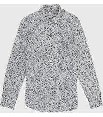 camisa blanco-negro tommy hilfiger