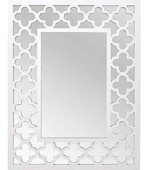 lustro w białej ramie moroccan