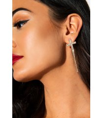 akira take me to church rhinestone cross earring