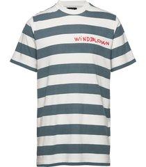beach stripe twin t-shirts short-sleeved blå mads nørgaard