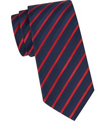 striped silk-blend tie