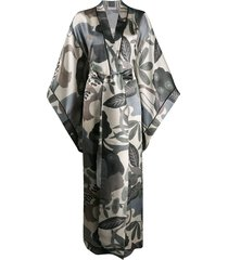 carine gilson long butterfly sleeve kimono - green