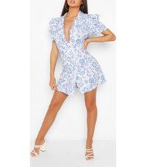 blazer jurk met extreme mouwen, blauw