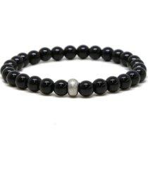 mr ettika classic onyx beaded elastic stretch bracelet