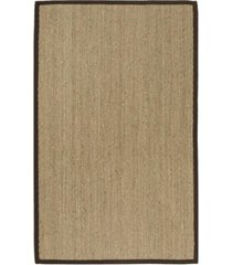 safavieh natural fiber natural and dark brown 6' x 9' sisal weave area rug