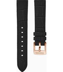 cinturino per orologio 20mm, nero, pvd oro rosa