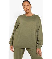 plus basic oversized sweater, khaki