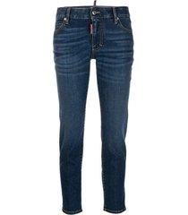 logo applique jeans
