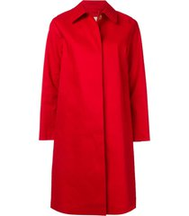 mackintosh berry red bonded cotton coat lr-020