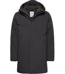 climate shell jacket - grs/vegan parka jas zwart knowledge cotton apparel