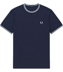 fred perry fred perry round neck cotton t-shirt