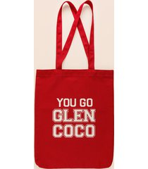 women's you go glen coco tote in red by francesca's - size: one size