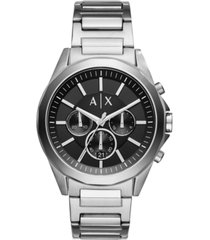 ax armani exchange men's chronograph stainless steel bracelet watch ax2600
