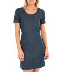 korte jurk vero moda my ss short denim dress bleu