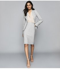 reiss thea - tailored skirt in grey, womens, size 12