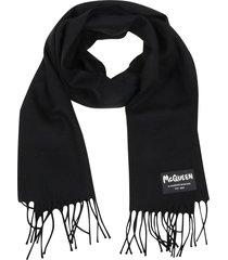 alexander mcqueen scarf label graffiti