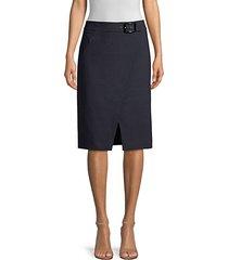 gracelyn belted pencil skirt