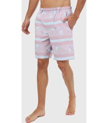 pantaloneta rosa-multicolor columbia backcast ii