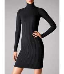 vestiti merino rib dress - 8598 - m
