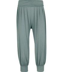 pantaloni alla turca 3/4 (verde) - bpc bonprix collection