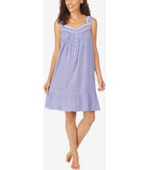 eileen west striped eyelet lace nightgown