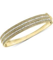 effy diamond bangle bracelet (1-1/2 ct. t.w.) in 14k gold