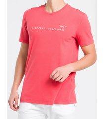 camiseta mc regular silk meia marm gc - vermelho - pp