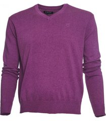 sweater cuello v algodón morado mcgregor
