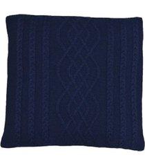 capa almofada tricot 45x45cm c/zíper sofa trico cod 1026 marinho