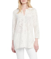 women's nic+zoe make waves tunic top, size xx-large - white