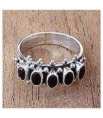 garnet multi-stone ring, 'velvet crown' (indonesia)