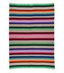 native yoga large mexican serape blanket natural cotton