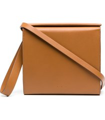 aesther ekme pouch leather clutch bag - brown
