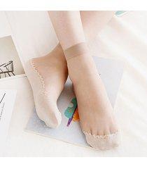 calze traspiranti sottili a tubo traspiranti sottili estivi a forma di calzino in seta per donna