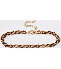 river island womens gold colour tortoiseshell link chain belt